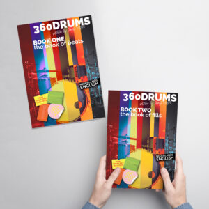 360DRUMS BOOK ONE AND BOOK TWO ON THE TABLE (book of beats, book of fills)